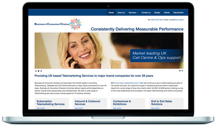 Telemarketing, Telesales and call centre website-designed by Mckie Associates
